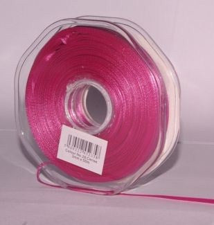 10mm x 20m Double Faced Cerise Satin Ribbon