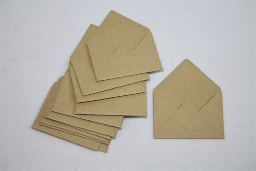 Mini Brown Paper Envelope x 12