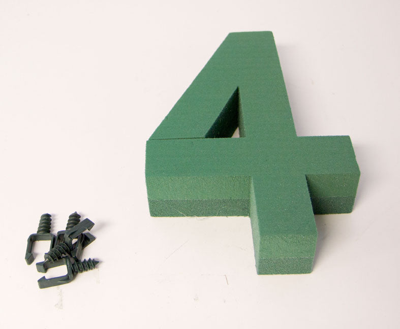 "Oasis Floral Foam Number with Clips ""4"""