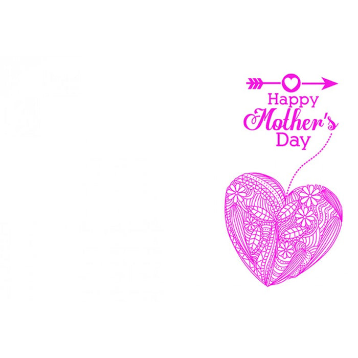 50 Florist Message Cards Happy Mother's Day Pink Vintage