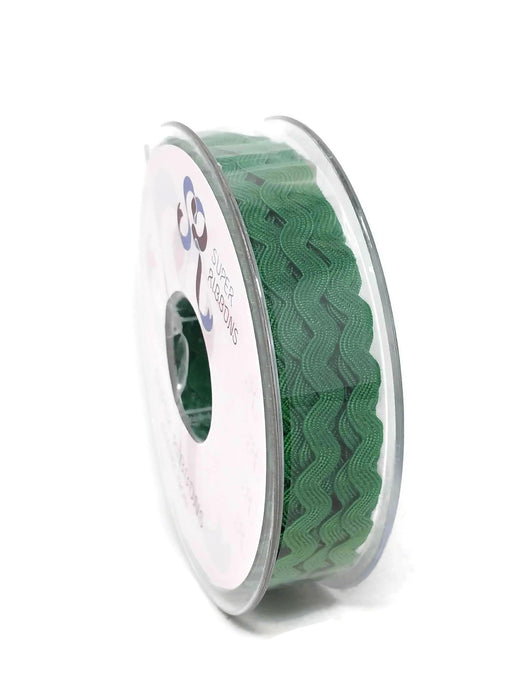 Ric Rac Ribbon Reel - 6mm x 20m - Emerald Green