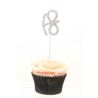 Double Number 18 Diamante Cake Topper