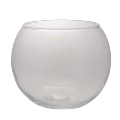 "20 x17cm (8"") Clear Glass Fishbowl"