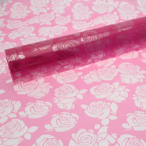1 metre Strong Pink Cut Out Roses Film -  x 80cm