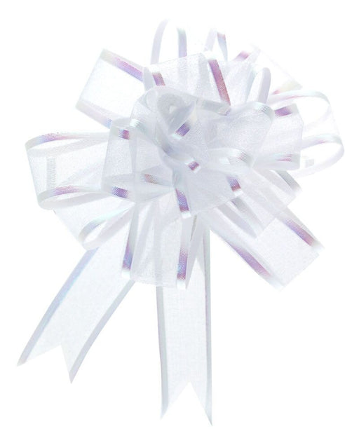 White 25mm Organza Pull Bow