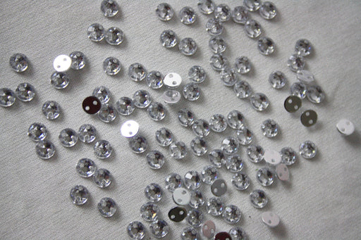 5mm Sew-on Diamante Bling Round x 100