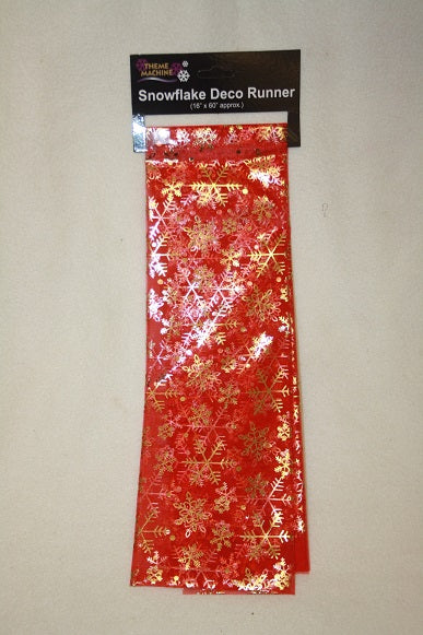 christmas red snowflake table runner table decoration L541