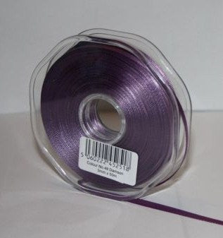 10mm x 20m Double Faced Damson Satin Ribbon