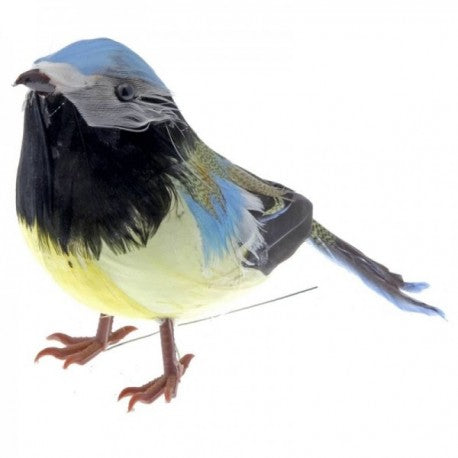 13cm Long Feathered Blue Tit Bird , 6 Per box