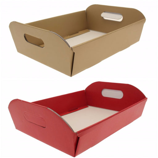 Christmas Hamper Cardboard Box - Gold, Red or Silver