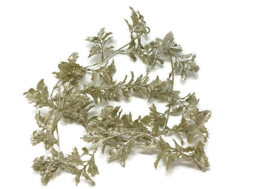 Glittered Holly Garland x 165cm - Champagne