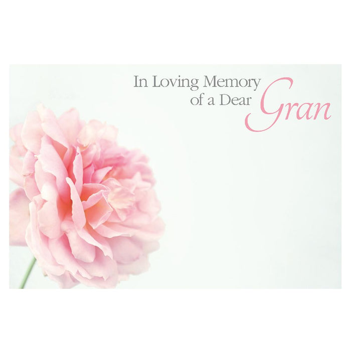 9 Large Florist Sympathy Message Cards - 12.5 x 9cm - In Loving Memory of a Dear Gran