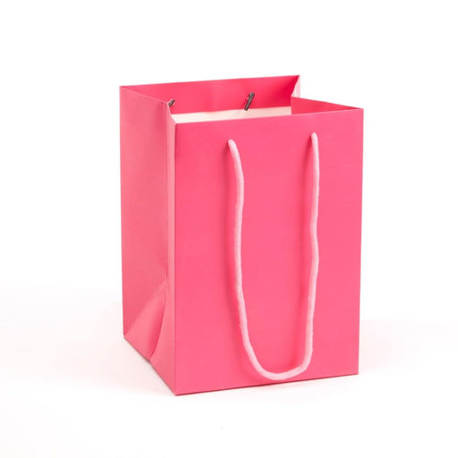 Hand Tied Rope Handle Porto Bag x 10  - Strong Pink