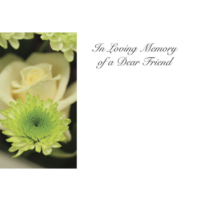 50 Cards In Loving Memory of a Dear Friend - Chrysanth, Rose