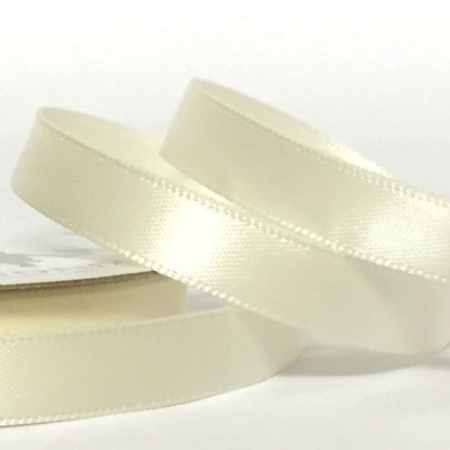 10mm x 20m Double Faced Ivory Satin Ribbon