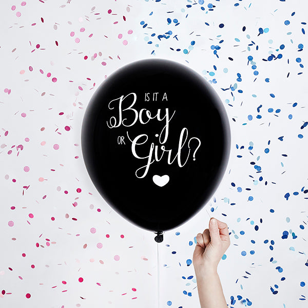 Gender Reveal Latex Balloon - Boy or Girl Confetti