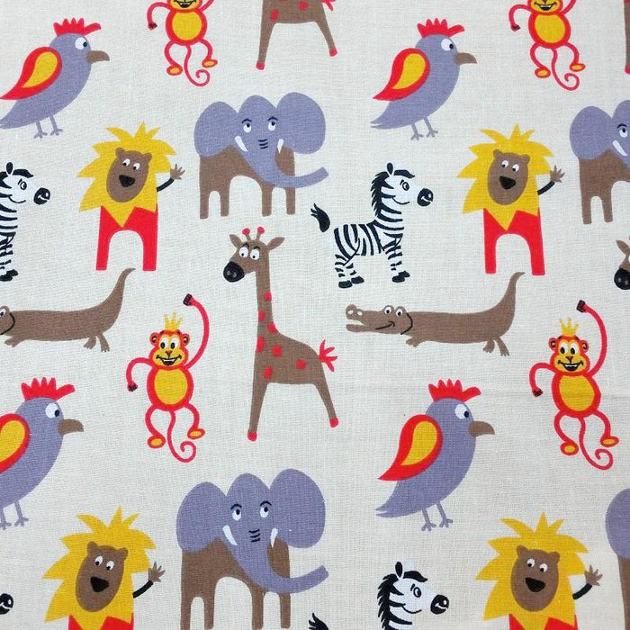 100% Cotton Jungle Print Fabric x 150cm / 60""