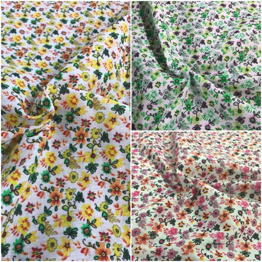 Polycotton Floral Primrose Fabric, Choice of Colour