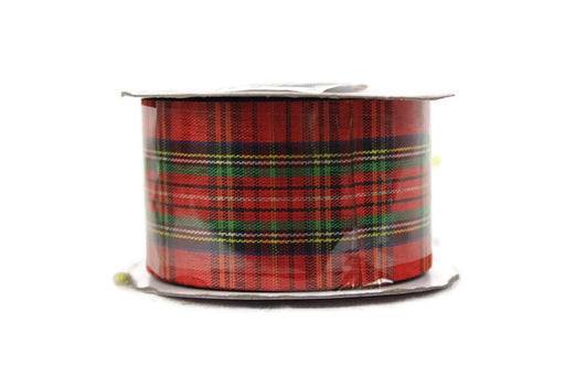 40 mm x 20 m Red Tartan Ribbon
