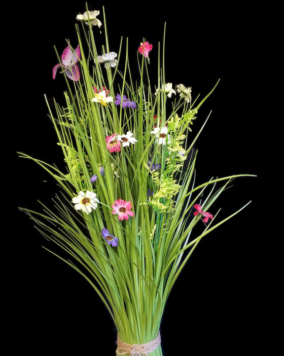 Meadow Flowers x 70cm - Pink, Purple, Yellow & White