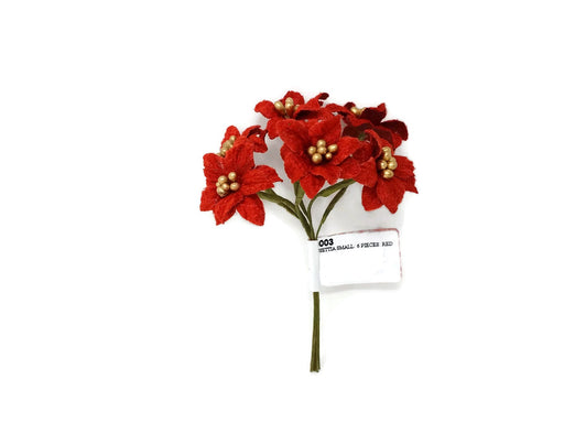 6 Stem Miniature Red Poinsettia