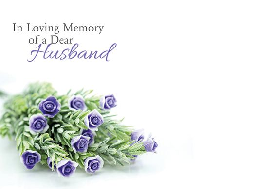 9 Large Florist Sympathy Message Cards - 12.5 x 9cm -  In Loving Memory of a Dear Husband