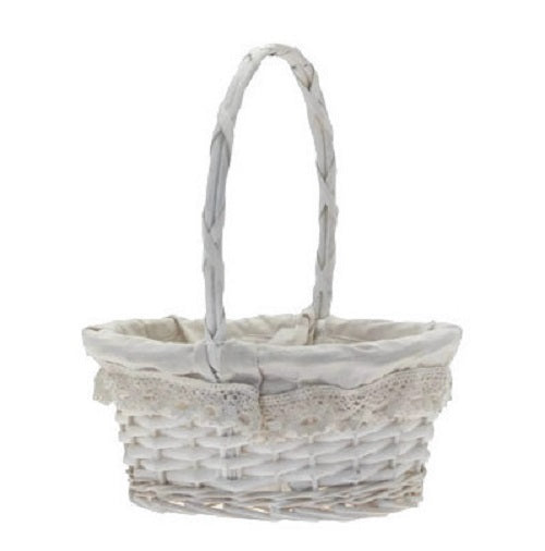Oval Victoria Basket with Handle x 26cm