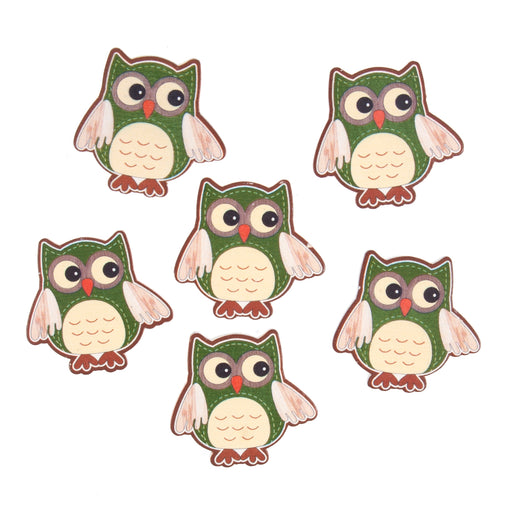 Craft Embellishment - Owls - Pack of 6