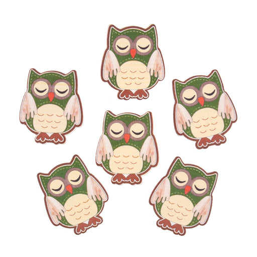 Craft Embellishment - Sleeping Owls - Pack of 6