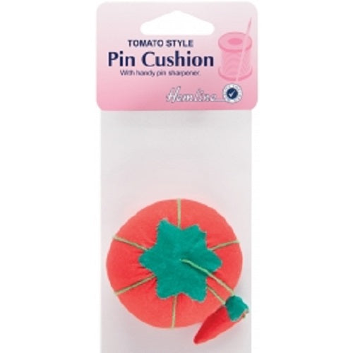 Tomato Shaped Pin Cushion with Attached Sharpener