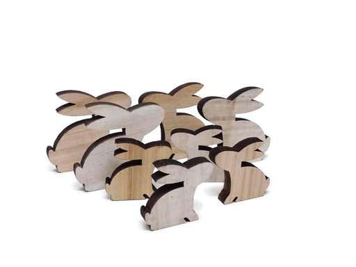 Wooden Shapes - Rabbits