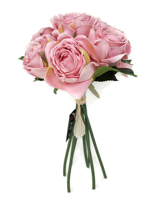 7 Head Ranunculus Rose Bunch - Vintage Pink