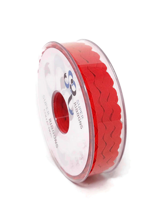 Ric Rac Ribbon Reel - 6mm x 20m - Red