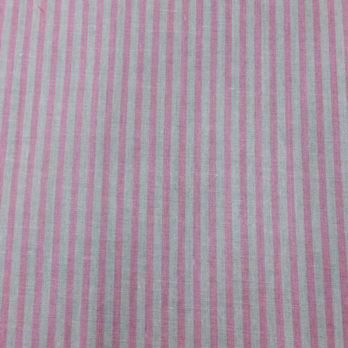 "Candy Stripe Polycotton Fabric x 112cm / 44"" - Choice of Colour"