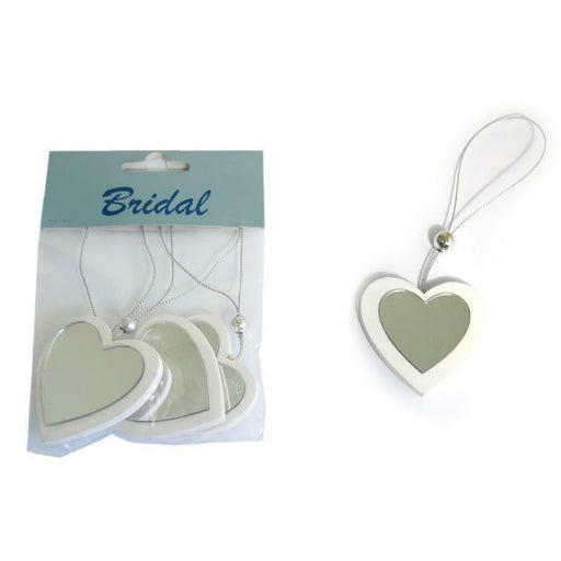 3 Mirror Effect Wooden Hanging Hearts