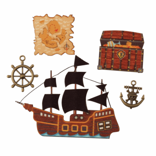 Craft Embellishments Pirate Treasure -  Pack of 5