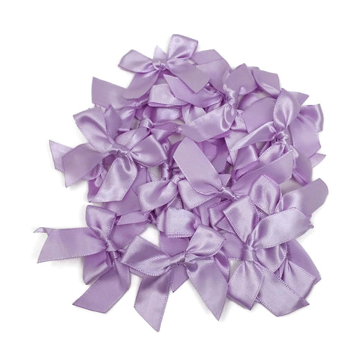 Satin Scatter Bows - 15mm Wide Ribbon x 100pcs - Lilac