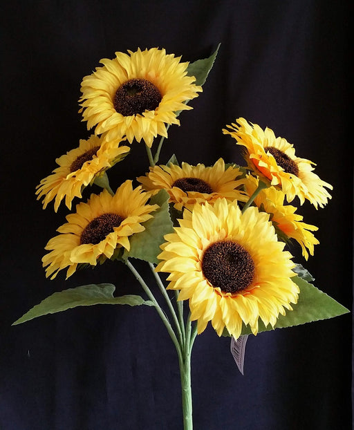 7 Head Sunflower Bush - Height 54cm