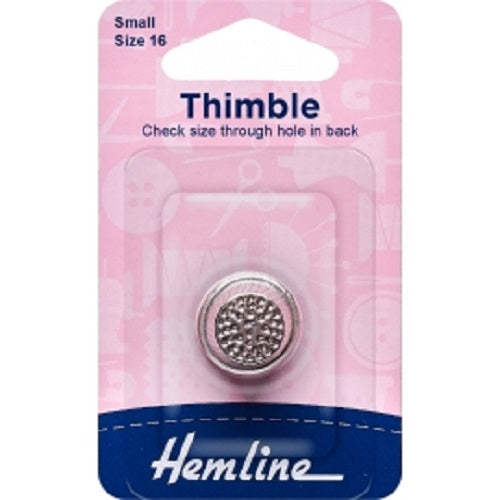 Thimble: Metal - Size 16 - Small