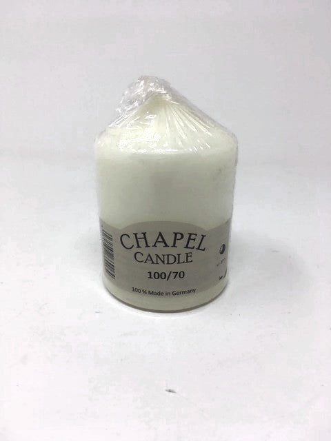 Ivory Chapel Candle - 100/70
