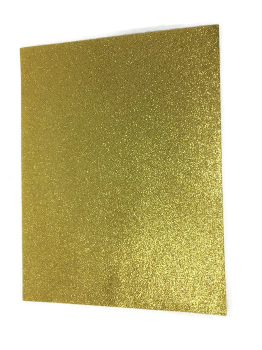 23cm x 30cm Glitter Felt Sheet - Bright Gold