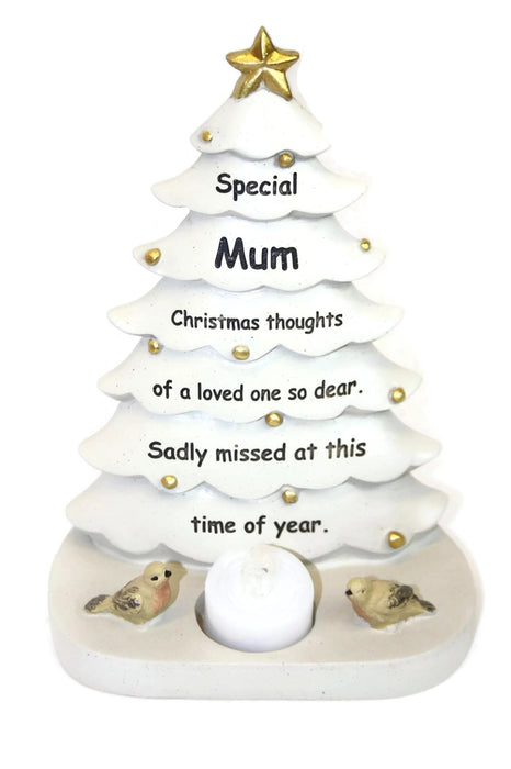 Memorial Christmas Tree & Candle Tribute - Choice of Loved One