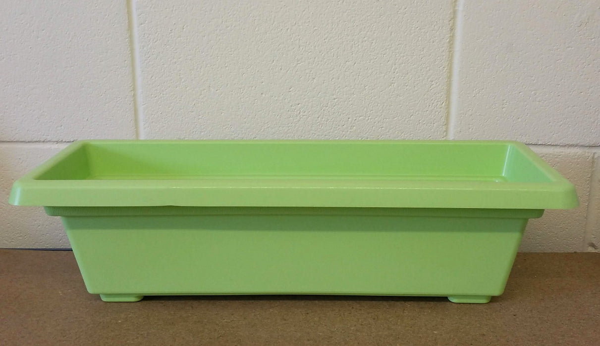 59cm Plastic Flower & Plant Trough  - Lime Green