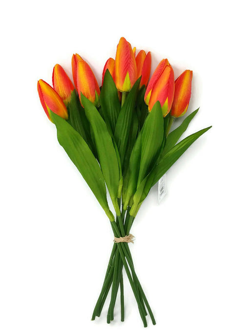 12 Head Tulip Bundle x 40cm - Orange