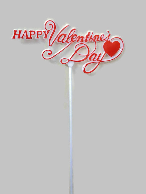 12 x Happy Valentine's Day Picks x 28cm - White