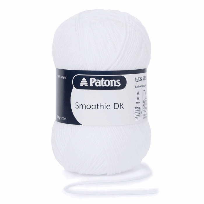 Patons Smoothie DK Wool x 100g - White