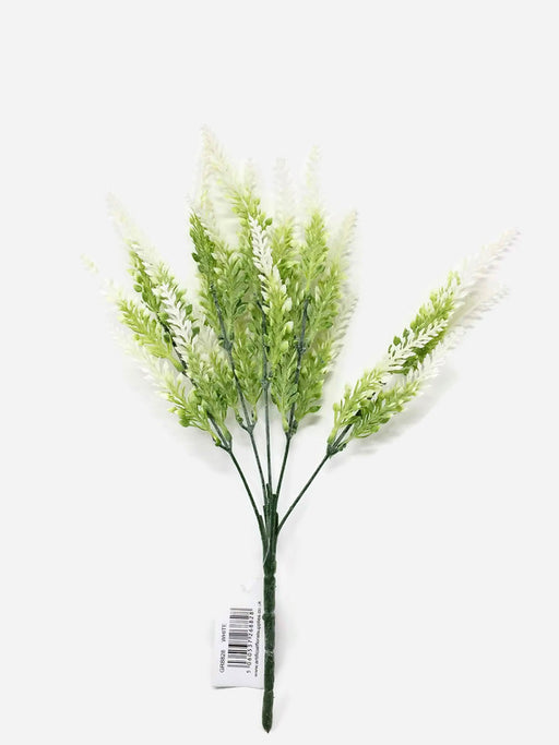 Wild Heather Branch x 36cm - White