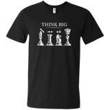 Chess V-neck T-shirt Think big