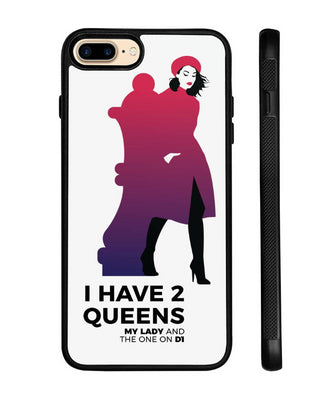 Chess iPhone case 2 Queens