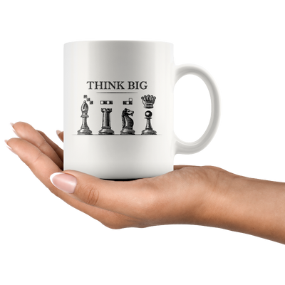 Chess mug think big